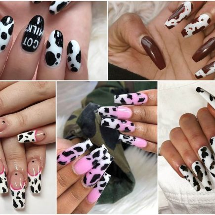 cow print nails.Fancynailart.com